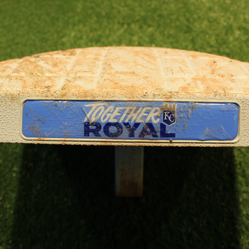 Photo of Game-Used Base: Miguel Cabrera's 5,000th Career Total Base - 1st Base, Innings 6-9 (DET @ KC 6/15/21)