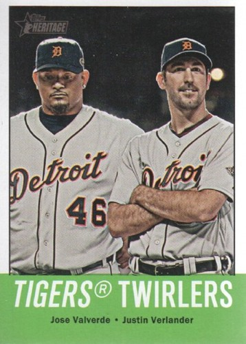 Photo of 2012 Topps Heritage #218 Jose Valverde/Justin Verlander