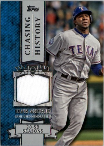 Photo of 2013 Topps Chasing History Relics #EA Elvis Andrus S2