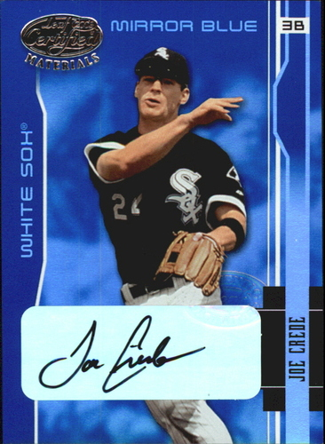 Photo of 2003 Leaf Certified Materials Mirror Blue Autographs #40 Joe Crede/30