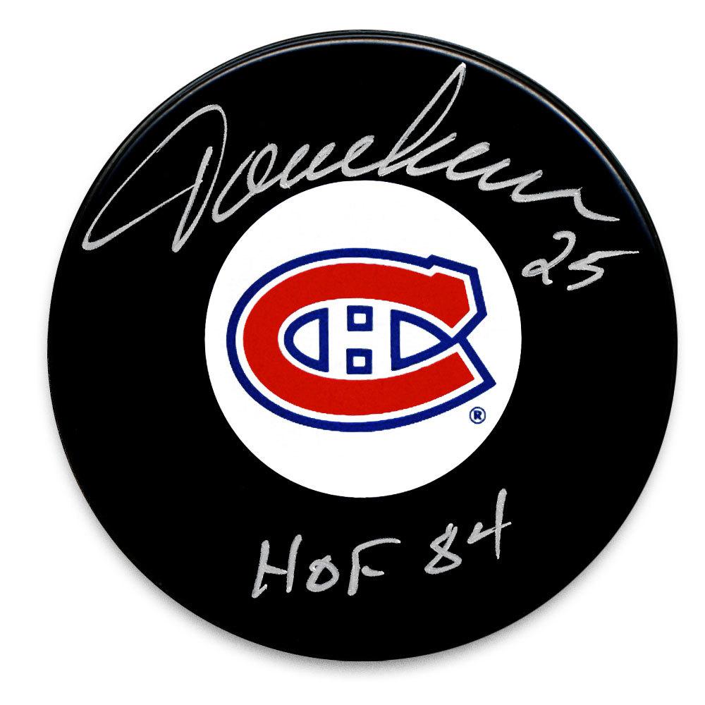 Jacques Lemaire Montreal Canadiens HOF Autographed Puck