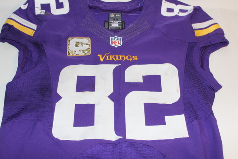 reputable site 43197 2dfa0 NFL Auction | STS - VIKINGS KYLE RUDOLPH GAME WORN VIKINGS ...
