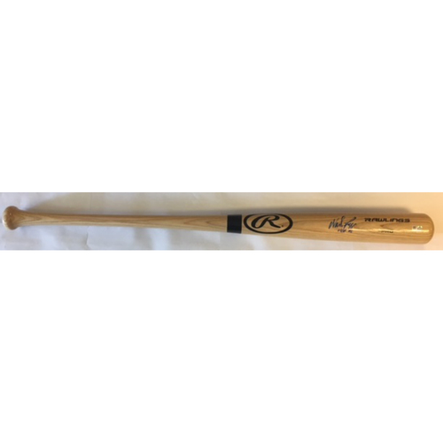 "Photo of Wade Boggs ""HOF 05"" Autographed Rawlings Bat"