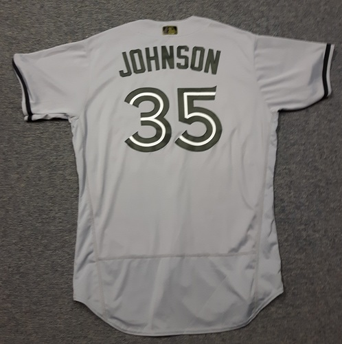 Photo of Authenticated Team Issued 2018 Memorial Day Jersey - #35 Dane Johnson (May 28, 2018). Size 48