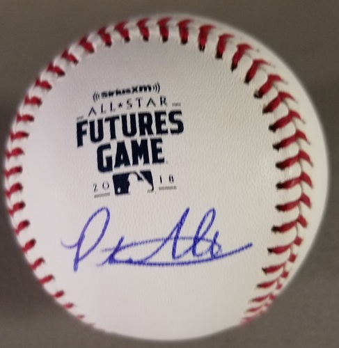 Photo of Peter Alonso Autographed 2018 Futures Logo Baseball