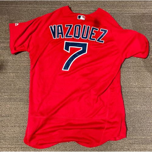 Photo of Boston Red Sox Christian Vazquez 2016 Game-Used Spring Training Jersey