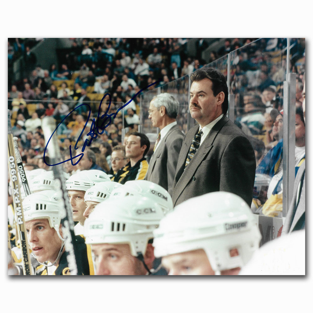 Pat Burns Autographed Boston Bruins 8X10 Photo
