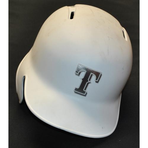"""Photo of Rougned """"EL TIPO"""" Odor Texas Rangers Game-Used 2019 Players' Weekend Helmet"""