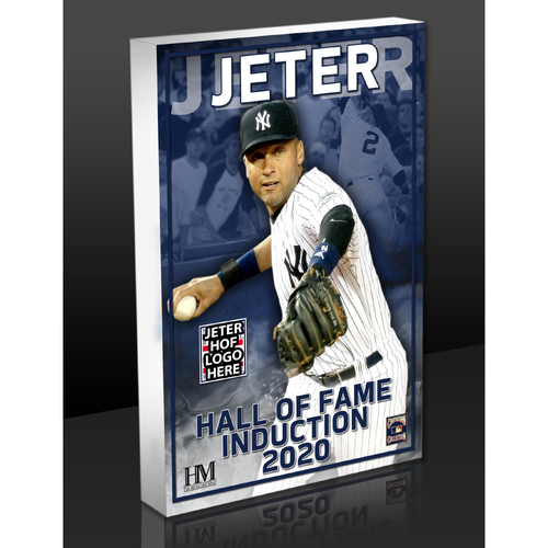 Photo of Derek Jeter 2020 HOF Acrylic Block