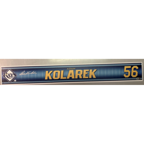 Photo of Team Issued Autographed Spring Training Locker Tag: Adam Kolarek
