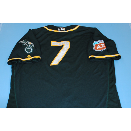 Photo of Game-Used 2016 Spring Training Jersey - Mark Kotsay - Size 48 - Oakland Athletics