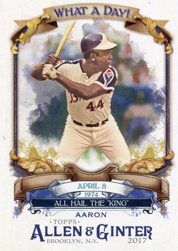 Photo of 2017 Topps Allen and Ginter What a Day #WAD3 Hank Aaron