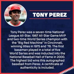 Photo of Tony Perez Autographed Baseball