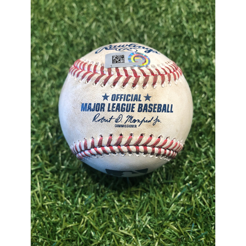 Photo of Game-Used Baseball: Franmil Reyes 61st Career Homerun (9/1/20 CLE @ KC)
