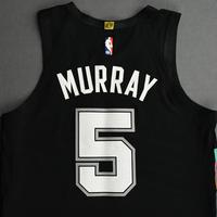 Dejounte Murray - San Antonio Spurs - Kia NBA Tip-Off 2020 - Game-Worn City Edition Jersey - Scored 21 Points