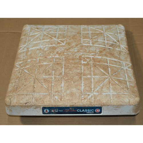 Photo of Game-Used Base - 2021 Little League Classic - Los Angeles Angels vs. Cleveland Indians - 8/22/2021 - 1st Base - Used Innings 1-4