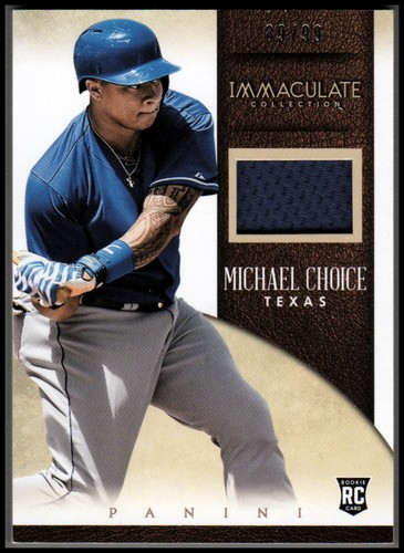 Photo of 2014 Immaculate Collection Immaculate Singles Memorabilia #35 Michael Choice/99