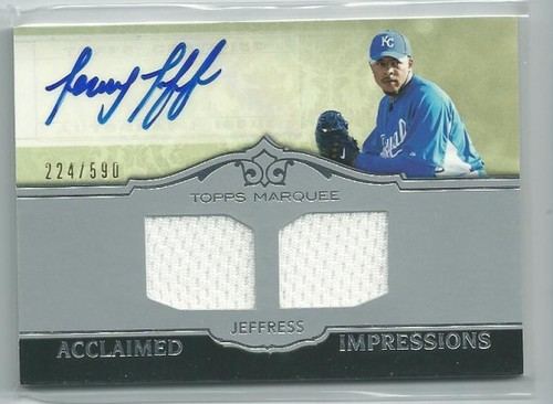 Photo of 2011 Topps Marquee Acclaimed Impressions Dual Relic Autographs #AID42 Jeremy Jeffress/590
