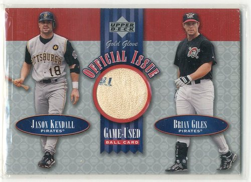 Photo of 2001 Upper Deck Gold Glove Official Issue Game Ball #OIKG Jason Kendall/Brian Giles