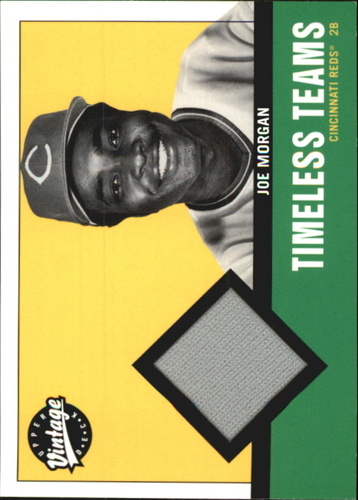 Photo of 2001 Upper Deck Vintage Timeless Teams #CIJM Joe Morgan Jsy