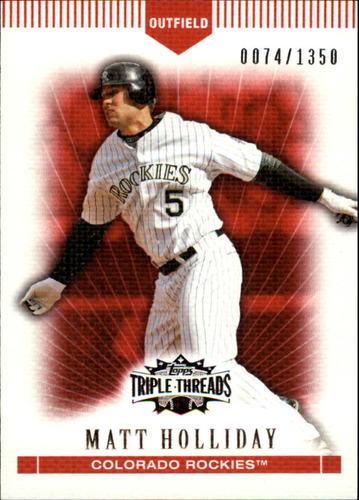 Photo of 2007 Topps Triple Threads #18 Matt Holliday