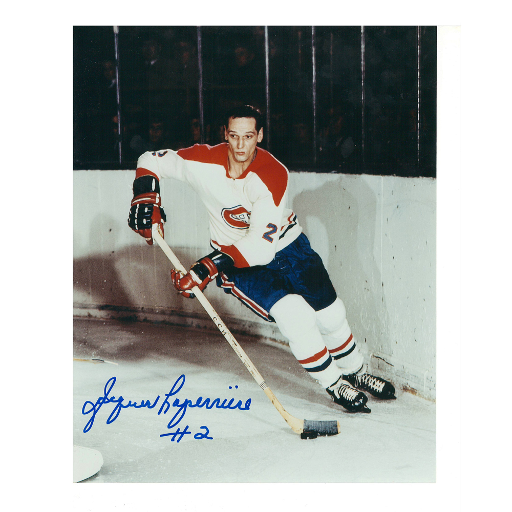JACQUES LAPERRIERE Signed Montreal Canadiens 8 X 10 Photo - 70016