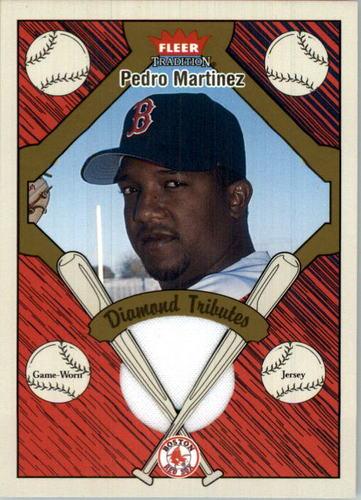 Photo of 2004 Fleer Tradition Diamond Tributes Game Jersey #PM Pedro Martinez