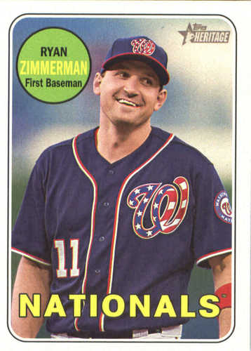 Photo of 2018 Topps Heritage #230 Ryan Zimmerman