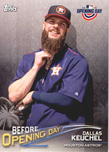 Photo of 2018 Topps Opening Day Before Opening Day #BODDK Dallas Keuchel