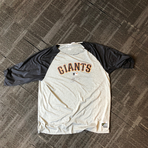 Photo of San Francisco Giants - Hunter Strickland Autographed Shirt. Shirt Size - XXL