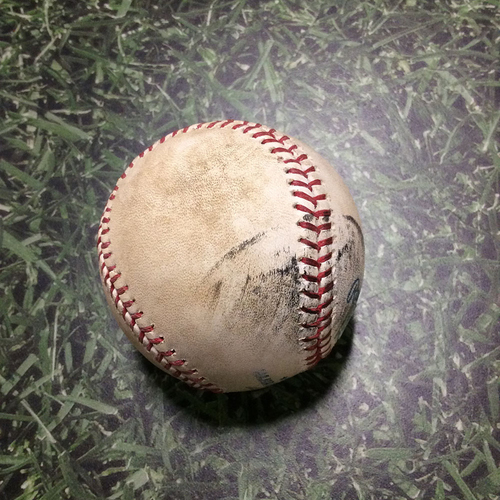 Photo of Game-Used Baseball NYM@MIL 06/09/11 - Jonathan Niese - Jonathan Lucroy: Ball