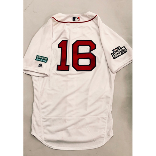 2019 London Series - Game-Used Jersey - Andrew Benintendi, New York Yankees vs Boston Red Sox - 6/29/19