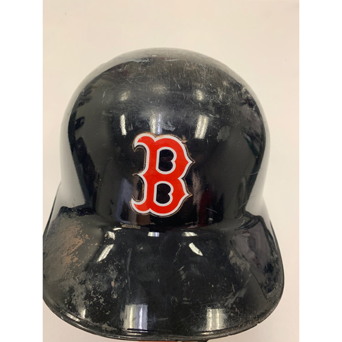 Photo of Eduardo Nunez October 23, 2018 Game Used World Series Game 1 Batting Helmet