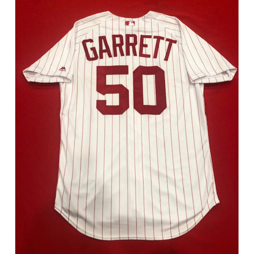 Photo of Amir Garrett -- 1967 Throwback Jersey (Relief Pitcher: 1.0 IP, 0 H, 0 R, 2 K) -- Game-Used for Rockies vs. Reds on July 28, 2019 -- Jersey Size: 46