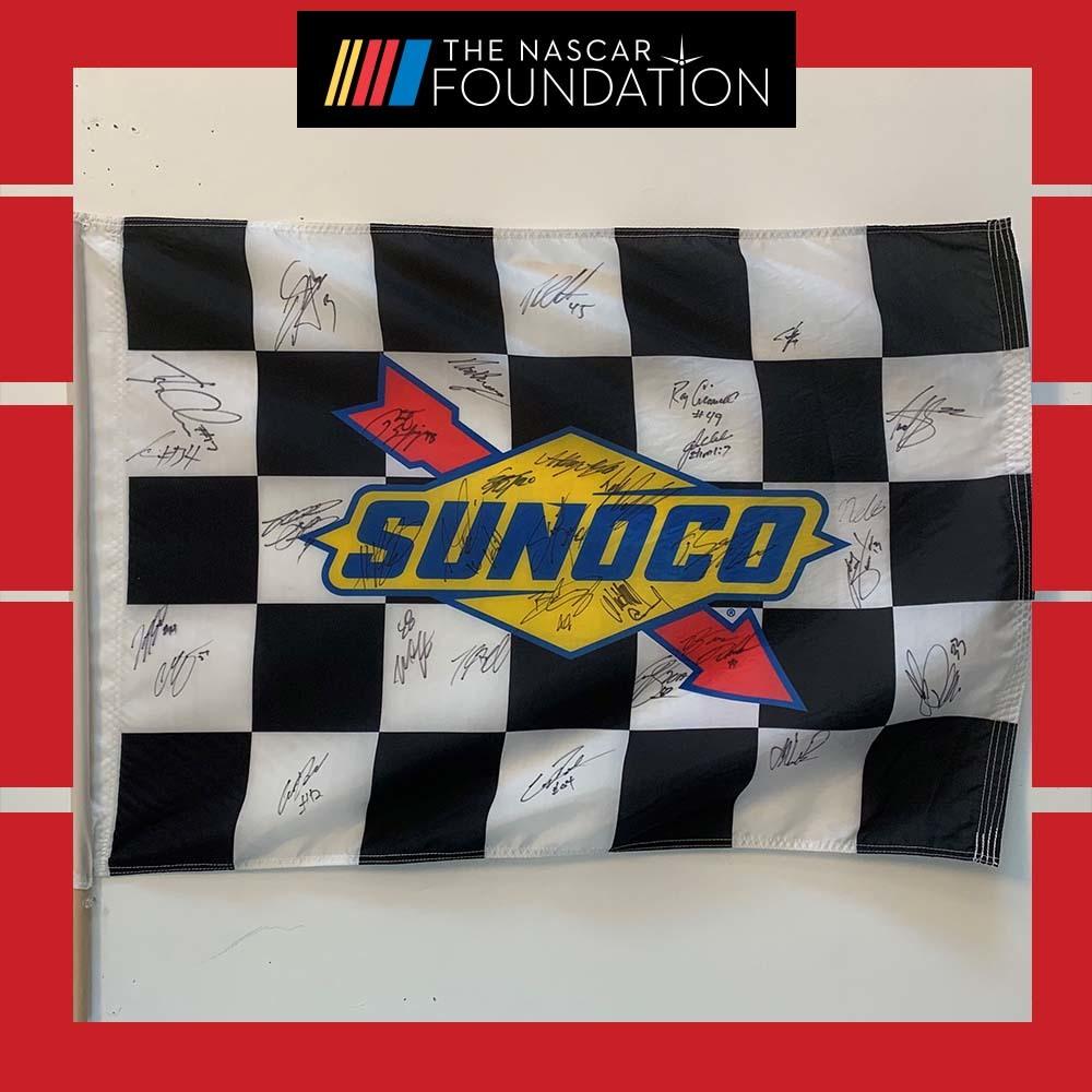 NGOTS Autographed Sunoco Flag at Michigan!