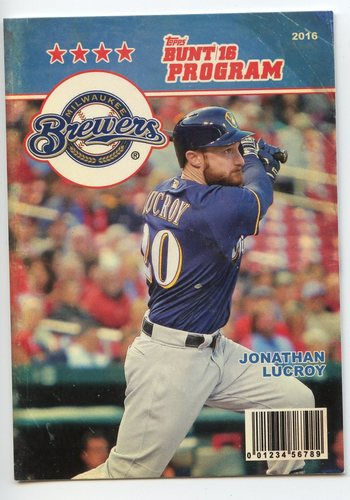 Photo of 2016 Topps Bunt Programs #P2 Jonathan Lucroy