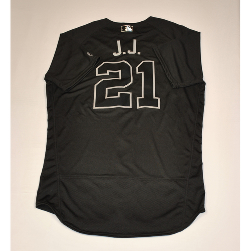 "Photo of JaCoby ""J.J. "" Jones Detroit Tigers Team-Issued 2019 Players' Weekend Jersey"