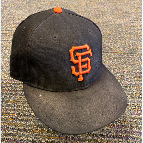 Photo of 2019 Game Used Regular Season Cap worn by #9 Brandon Belt on 9/29 vs. LAD - Bruce Bochy's Final Game - Size 7 1/8