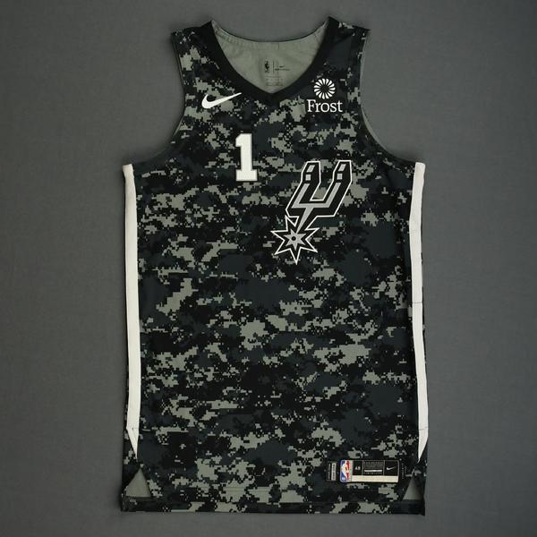 Image of Lonnie Walker IV - San Antonio Spurs - Game-Worn City Edition Jersey - 2019-20 Season - Dressed, Did Not Play