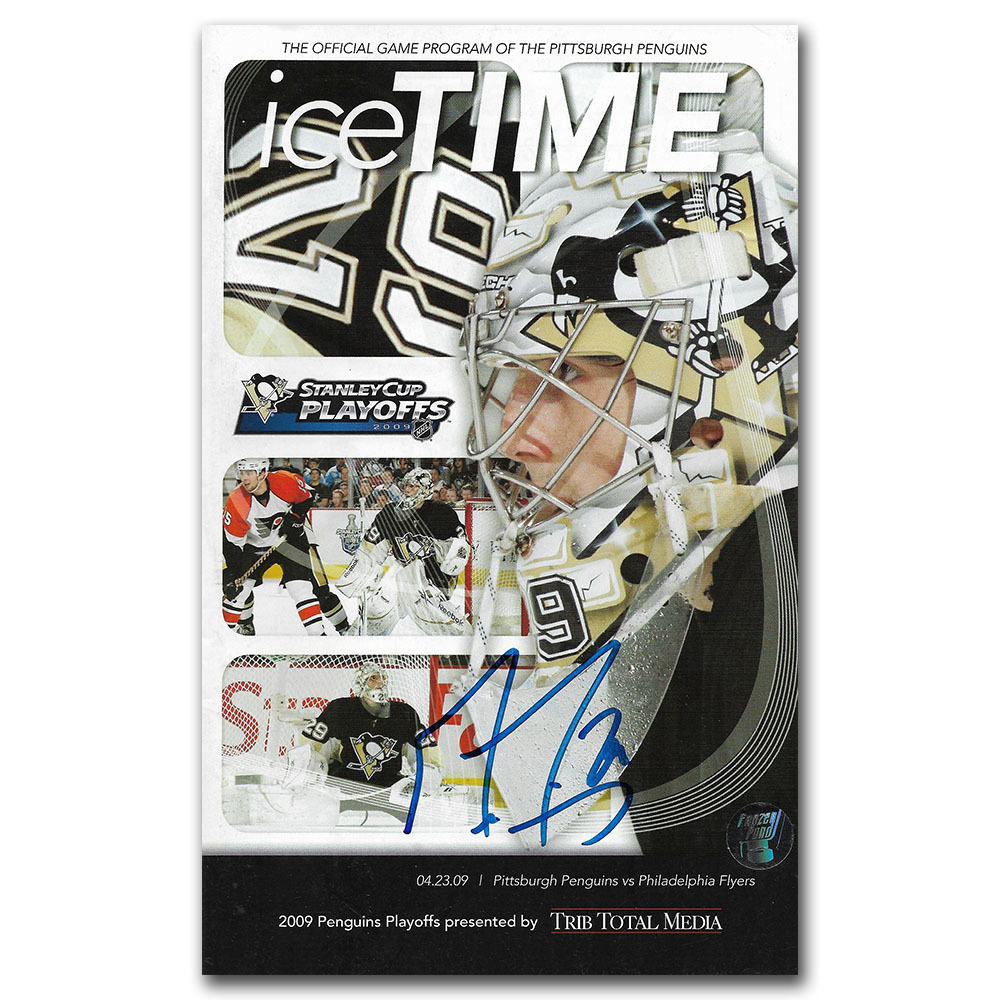 Marc-Andre Fleury Autographed Pittsburgh Penguins Program - 04/23/09
