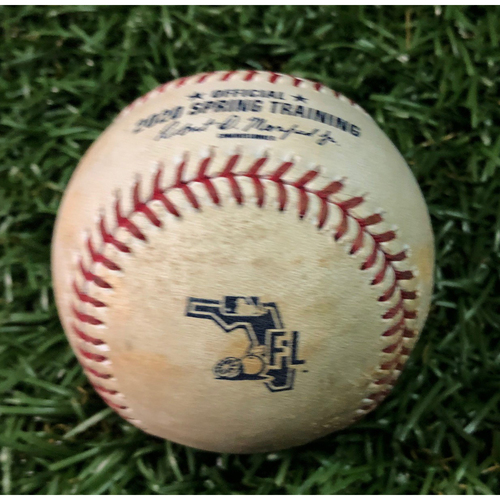 Photo of Spring Training Game Used Baseball: Nick Anderson strikes out Michael Chavis - February 24, 2020 v BOS