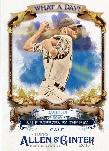 Photo of 2017 Topps Allen and Ginter What a Day #WAD4 Chris Sale