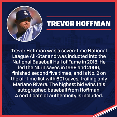 Trevor Hoffman Autographed Baseball