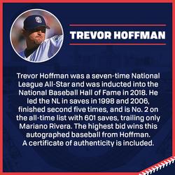 Photo of Trevor Hoffman Autographed Baseball