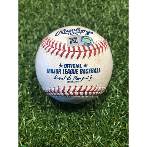 Photo of Game-Used Baseball: Tyler Naquin 30th Career Homerun (9/2/20 CLE @ KC)