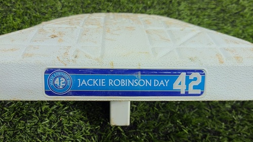 Photo of CHARITY AUCTION: Authenticated Game Used #42 Base: 1st Base for Innings 1 to 3 (Aug 28, 20). Ryu started game for the Blue Jays.