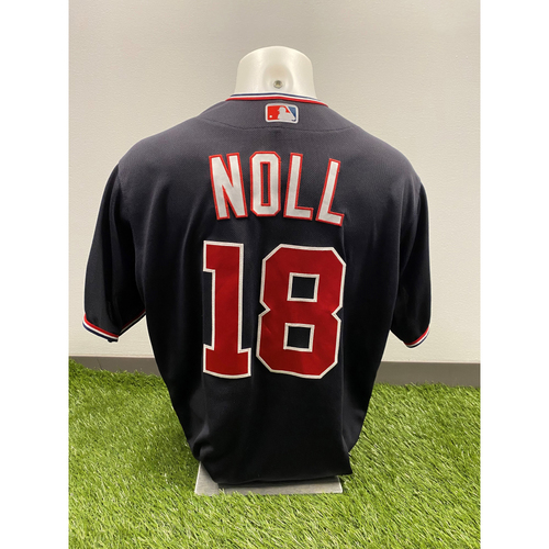 Jake Noll 2020 Game-Used World Series Champions Navy Script Jersey