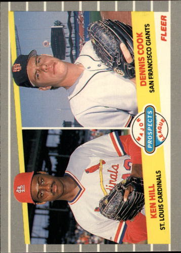 Photo of 1989 Fleer Glossy #652 K.Hill/D.Cook