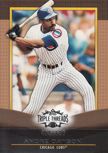 Photo of 2011 Topps Triple Threads Sepia #68 Andre Dawson