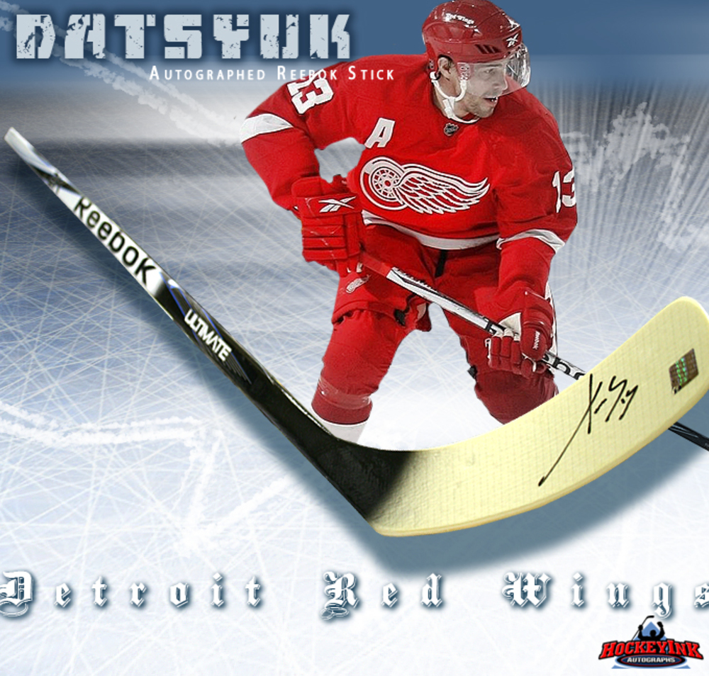 PAVEL DATSYUK Signed Reebok Stick - Detroit Red Wings